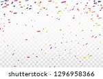 colorful confetti celebration... | Shutterstock .eps vector #1296958366