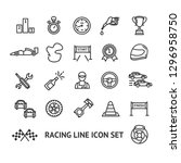 racing signs black thin line... | Shutterstock .eps vector #1296958750