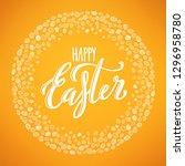 happy easter poster | Shutterstock . vector #1296958780