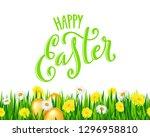 happy easter poster | Shutterstock . vector #1296958810