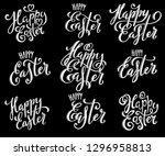 happy easter eggs | Shutterstock . vector #1296958813