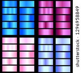 fuchsia  blue  pink gradient.... | Shutterstock .eps vector #1296958849