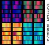 multicolor gradient. collection ... | Shutterstock .eps vector #1296961906