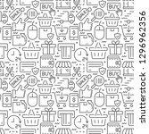 e commerce seamless pattern...   Shutterstock .eps vector #1296962356