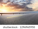 empty asphalt road and modern... | Shutterstock . vector #1296965950