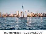 new york city skyline with busy ... | Shutterstock . vector #1296966709