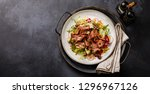 salad with roast beef and... | Shutterstock . vector #1296967126