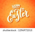 happy easter poster | Shutterstock . vector #1296972313