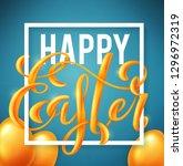 happy easter poster | Shutterstock . vector #1296972319