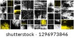 grunge set. detailed textures.... | Shutterstock .eps vector #1296973846