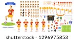 football player character set... | Shutterstock .eps vector #1296975853
