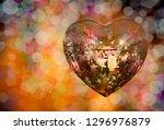 heart shape love symbol with...   Shutterstock . vector #1296976879