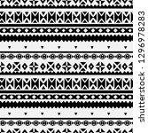 tribal art  ethnic seamless... | Shutterstock .eps vector #1296978283