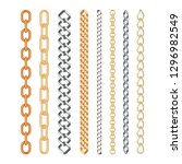 golden and silver chain set... | Shutterstock .eps vector #1296982549