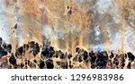 volcanoes of the seabed ... | Shutterstock . vector #1296983986