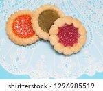 jam biscuits. macro with...   Shutterstock . vector #1296985519