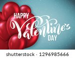 happy valentines day card.... | Shutterstock .eps vector #1296985666