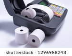 changing paper roll in...   Shutterstock . vector #1296988243