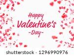 valentine s day card with... | Shutterstock . vector #1296990976