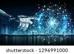 intelligent robot humanoid... | Shutterstock . vector #1296991000