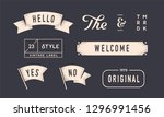 set of vintage graphic. design... | Shutterstock .eps vector #1296991456