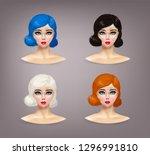 girl fashion game. vector... | Shutterstock .eps vector #1296991810