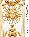 detail view of golden ornate... | Shutterstock . vector #129699668