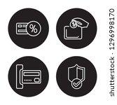 4 linear vector icon set  ... | Shutterstock .eps vector #1296998170
