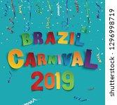 brazil carnival 2019 background ... | Shutterstock .eps vector #1296998719