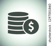 vector icon coin | Shutterstock .eps vector #1297001860