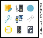 9 workshop icon. vector... | Shutterstock .eps vector #1297005943