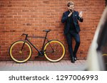 young handsome bearded business ... | Shutterstock . vector #1297006993