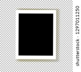 realistic empty photo frame... | Shutterstock .eps vector #1297011250