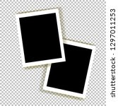 realistic empty photo frame... | Shutterstock .eps vector #1297011253