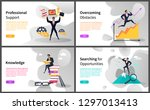 business career building and... | Shutterstock .eps vector #1297013413