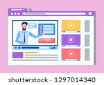 online courses lead by male...   Shutterstock .eps vector #1297014340