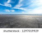 empty asphalt road and city...   Shutterstock . vector #1297019929