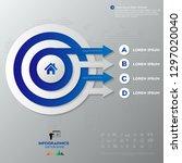 modern blue infographics... | Shutterstock .eps vector #1297020040