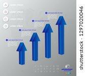 business infographics design... | Shutterstock .eps vector #1297020046