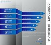 modern blue infographics 5... | Shutterstock .eps vector #1297020070