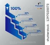 modern blue infographics 4... | Shutterstock .eps vector #1297020073