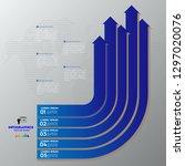 modern blue infographics 5... | Shutterstock .eps vector #1297020076