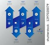 modern blue infographics 5... | Shutterstock .eps vector #1297020079