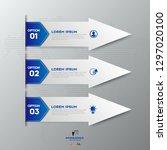 modern blue infographics 3... | Shutterstock .eps vector #1297020100
