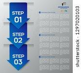 modern blue infographics 3... | Shutterstock .eps vector #1297020103