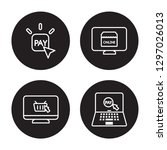 4 linear vector icon set   pay... | Shutterstock .eps vector #1297026013