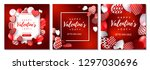 set of valentines day cards and ... | Shutterstock .eps vector #1297030696