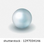 natural  shiny  sea blue pearl... | Shutterstock .eps vector #1297034146