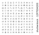 seo marketing flat icon set.... | Shutterstock .eps vector #1297034203