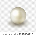 natural  shiny  sea  pearl on a ... | Shutterstock .eps vector #1297034710